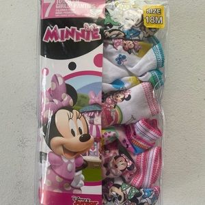 7 Toddler Girl's Panties Disney Minnie-18 M